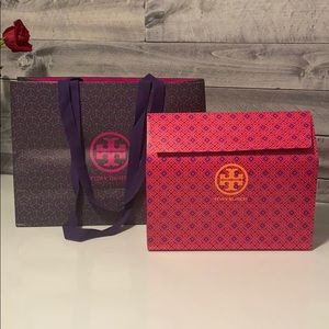 Tory Burch empty gift box and bag